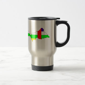 Central African Republic Flag Map full size Stainless Steel Travel Mug