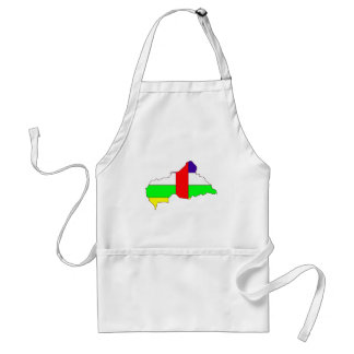 Central African Republic Flag Map full size Standard Apron