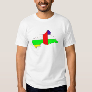 Central African Republic Flag Map full size Tee Shirts