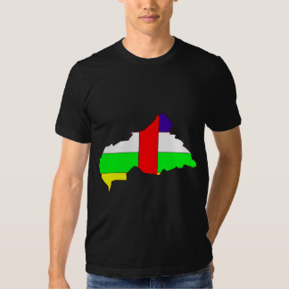 Central African Republic Flag Map full size Tshirts