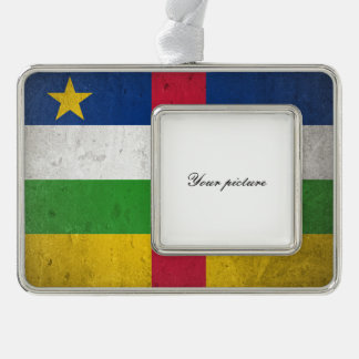 Central African Republic Silver Plated Framed Ornament