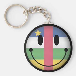 Central African Republic Smiley Keychain
