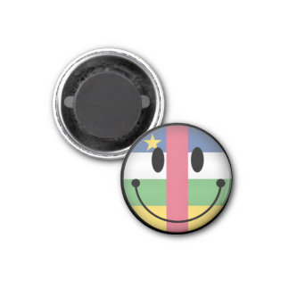 Central African Republic Smiley Fridge Magnets