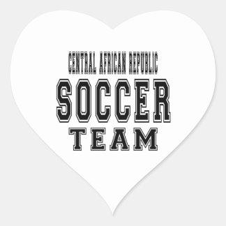 Central African Republic Soccer Team Heart Sticker