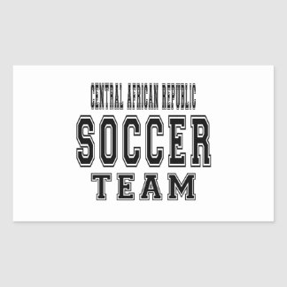 Central African Republic Soccer Team Rectangular Sticker