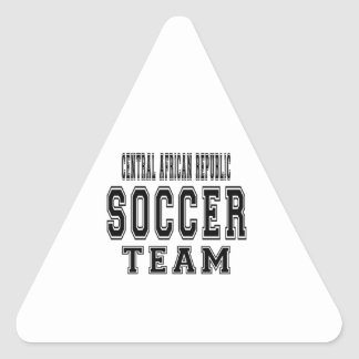 Central African Republic Soccer Team Triangle Sticker