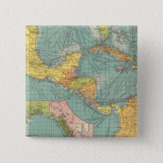 Central America 15 Cm Square Badge