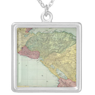 Central America 2 Silver Plated Necklace