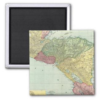 Central America 2 Square Magnet