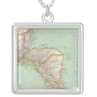 Central America 4 Silver Plated Necklace