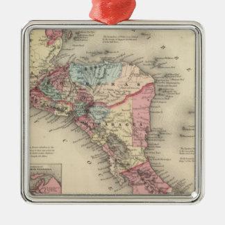 Central America 5 Silver-Colored Square Decoration