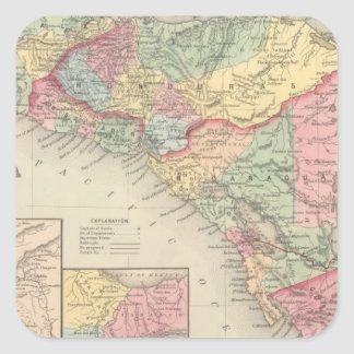Central America 8 Square Sticker