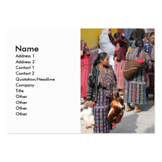 Central America Market - Guatemala Market Pack Of Chubby Business Cards