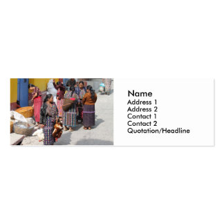 Central America Market - Guatemala Market Pack Of Skinny Business Cards