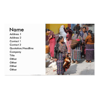 Central America Market - Guatemala Market Pack Of Standard Business Cards