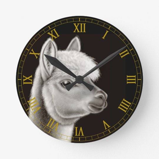Central American Alpaca Wall Clock