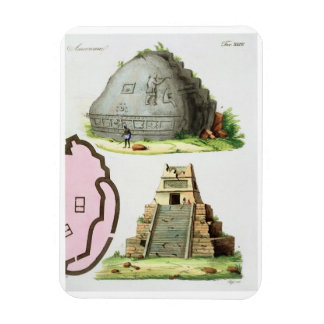 Central American Antiquities, detail of two pyrami Rectangular Photo Magnet