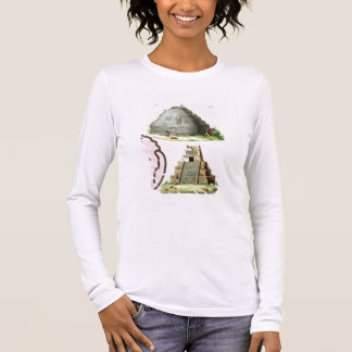 Central American Antiquities, detail of two pyrami Long Sleeve T-Shirt