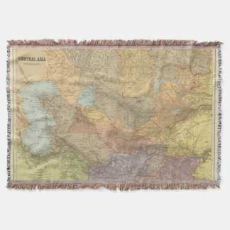 Central Asia 2 Throw Blanket