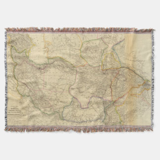 Central Asia 3 Throw Blanket