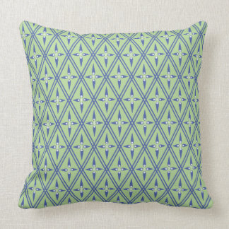 Central Asia Diamond Light Green with Amparo Blue Cushion