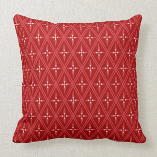 Central Asia Diamond Red Cushion