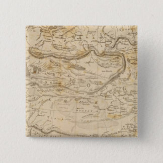 Central Asia Map by Arrowsmith 15 Cm Square Badge