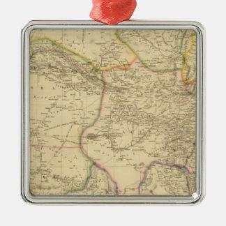 Central Asia Silver-Colored Square Decoration