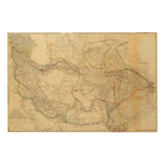 Central Asia Wood Print