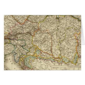 Central Balkan Peninsula Austria Hungary Card