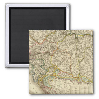 Central Balkan Peninsula Austria Hungary Square Magnet