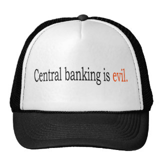Central banking is evil mesh hats