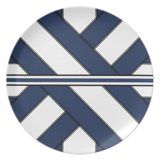 Central Blue Cross-Sash Plate