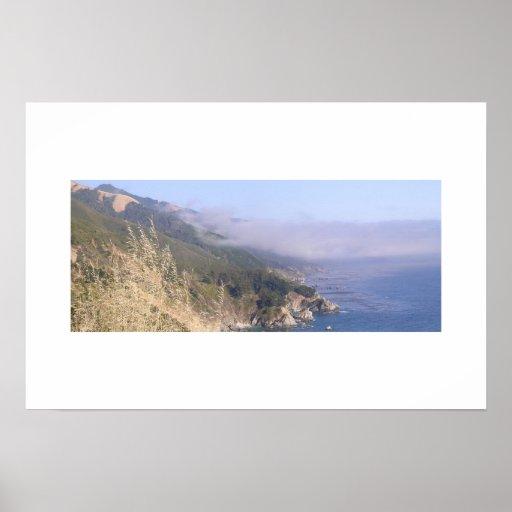Central California Coastline Poster