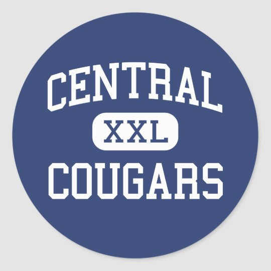 Central Cougars Middle Greenwich Connecticut Classic Round Sticker