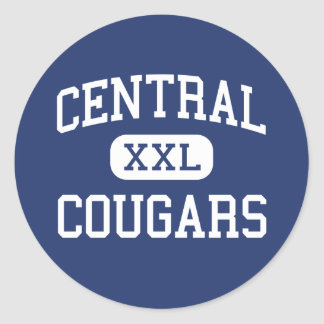Central Cougars Middle Greenwich Connecticut Round Stickers
