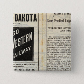 Central Dakota 15 Cm Square Badge