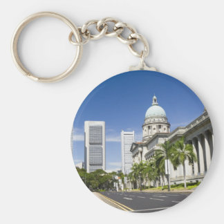 Central district of Singapore Keychain