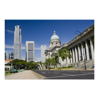 Central district of Singapore Print
