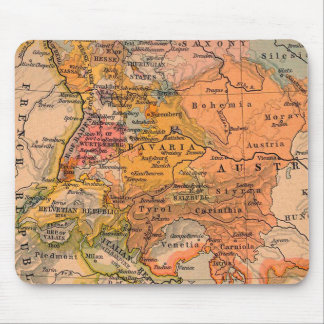 Central Europe Antique Map Mouse Mat