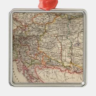 Central Europe Silver-Colored Square Decoration