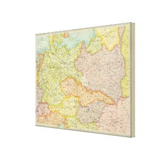 Central European states political Canvas Print