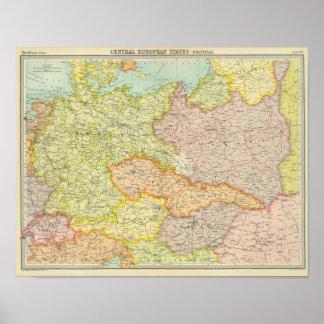 Central European states political Poster