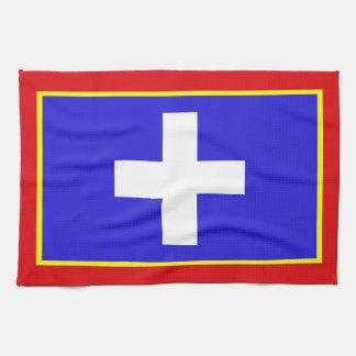 central greece flag country region symbol tea towel