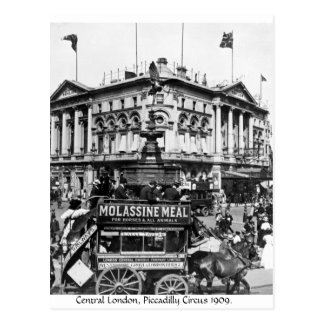 Central London 1909, Piccadilly Circus horse tram Postcard