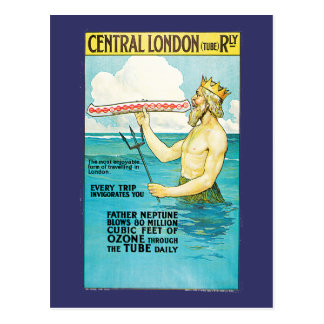 Central London Railway Vintage Travel Postcard