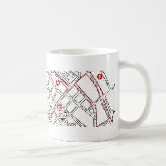 Central Manchester Map Coffee Mug