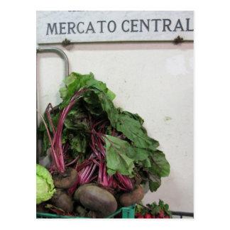 Central Market' Florence Postcard