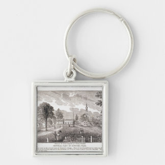 Central of Concord, from 'Historical Silver-Colored Square Key Ring