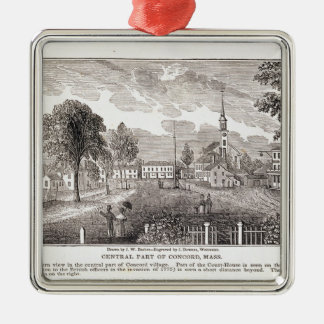 Central of Concord, from 'Historical Silver-Colored Square Decoration